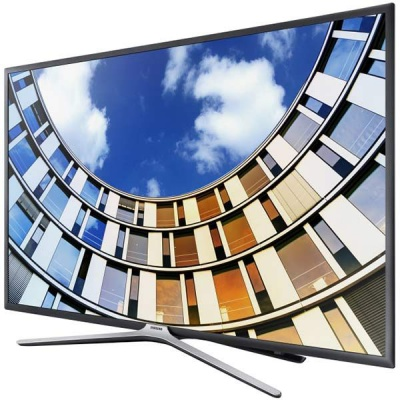 "Телевизор LED Samsung 55"" UE55M5500AUXRU черный/FULL HD/100Hz/DVB-T2/DVB-C/DVB-S2/USB/WiFi/Smart TV (RUS)"